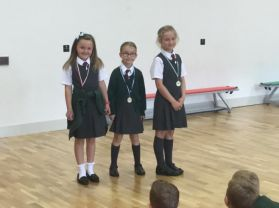 Presentation of sports day medals