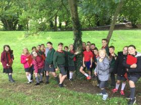Miss Cochrane and Miss Payne's class area investigation in Dromore Park