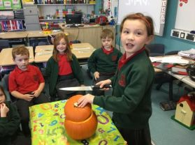 Today we had fun carving a pumpkin.
