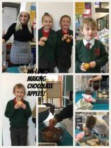 We made Chocolate Apples in Yr3/ Room 12